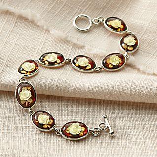 Amber Rose Intaglio Bracelet