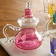 Hand-Painted Moroccan Medina Glass Teapot