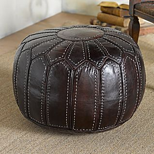 View Marrakesh Leather Pouf image