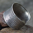 Hill-tribe ''Woven'' Sterling Silver Cuff