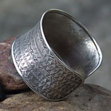 Handcrafted Hill-Tribe 'Woven' Sterling Silver Cuff
