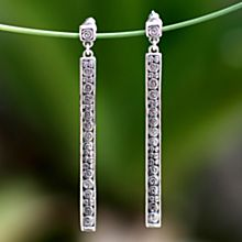 Handcrafted Sterling Silver Serenity Earrings