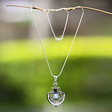 Temple Garden Moonstone Necklace