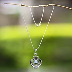 Handcrafted Temple Garden Moonstone Necklace