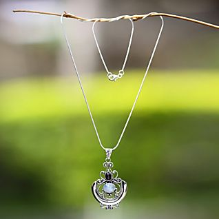 View Temple Garden Moonstone Necklace image