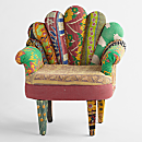 Kantha Quilted Peacock Chair