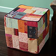 100% Cotton Handcrafted Vintage Kantha Cube