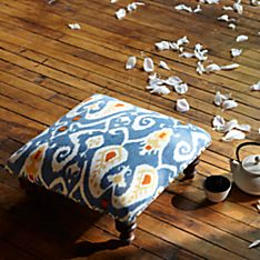Canvas Indian Tearoom Footstool