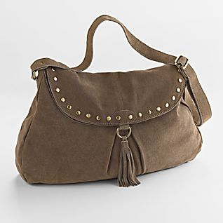 Boho-Hobo Suede Bag