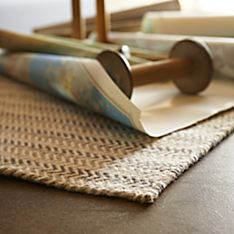 Hand-Woven Herringbone Natural Wool Rug
