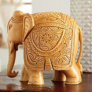 View Hand-carved Elephant Festival Sculpture image