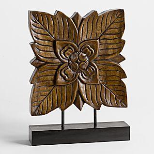 Thai Rain Tree Blossom Wood Carving