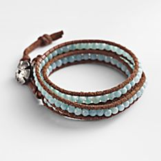 Handcrafted Amazonite Wrap Bracelet