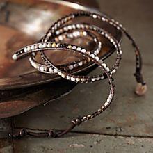 Handcrafted River Bead Wrap Bracelet