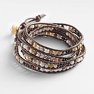 River Bead Wrap Bracelet