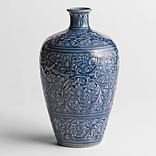 View Blue Thai Celadon Vase - Large image