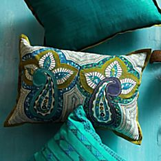 Paisley Morning Pillow - Rectangle, Crafted in New India