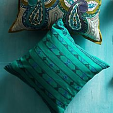 100% Cotton Handwoven Indian Jazz Pillow - Square