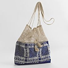 Golden Triangle Indigo Bag