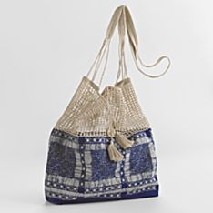100% Cotton Handcrafted Golden Triangle Indigo Bag