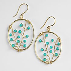 Indian Berry Branch Earrings