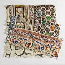 Taj Mahal Mosaic Scarf, Made in Haryana, India