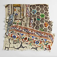 Taj Mahal Mosaic Scarf, Made in Haryana, India
