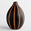 Thai Mango-wood Vase - Teardrop Stripe