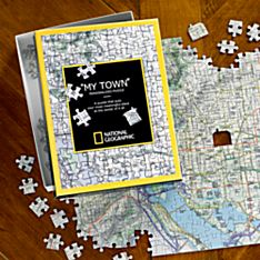 Personalized 'my Town' Custom Map Puzzle