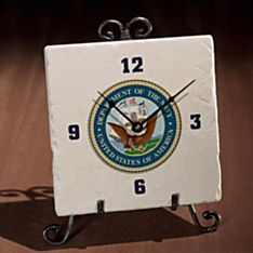 Military Seal Clock, Made in the USA
