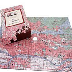 Personalized 'your Town' Map Puzzle - Canadian Edition