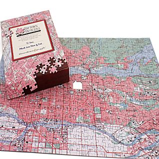 View Personalized ''Your Town'' Map Puzzle - Canadian Edition image