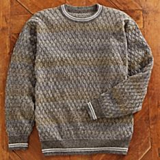 Men's Bolivian Stained-Glass Alpaca Sweater