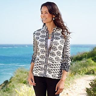 View Black-and-white Reversible Indian Jacket image