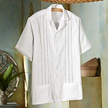 Handcrafted Salvadoran Cotton Guayabera Shirt