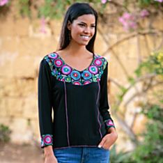 Women's Rangoli Embroidered Shirt