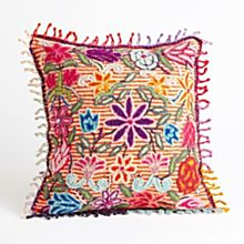 Peruvian Floral Pillow - Striped
