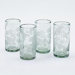Hummingbird Tumblers - Set of 4