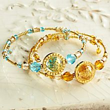 Handcrafted Venetian Glass Bead Bracelet