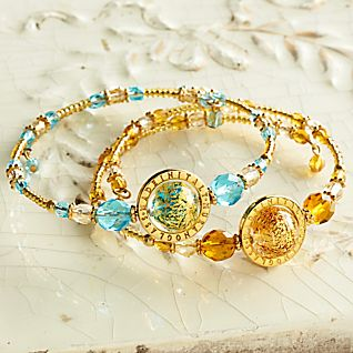View Venetian Glass Bead Bracelet image