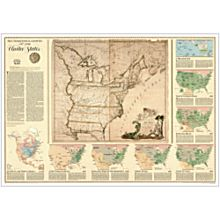U.S. Territorial Growth Thematic Wall Map