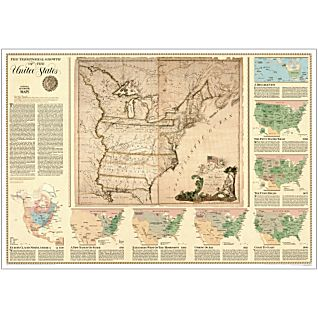 U.S. Territorial Growth Thematic Map