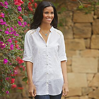Indian Cotton Embroidered Shirt