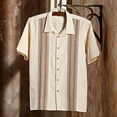 Handwoven Guatemalan Cotton Guayabera Shirt