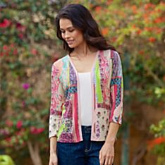 Women's Paisley Silk and Cashmere-Blend Cardigan