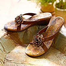 Handcrafted Hawaiian Hibiscus Wedge Sandals