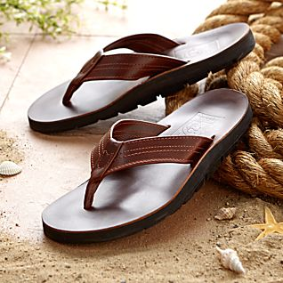 Men's Horween Leather Hawaiian Travel Sandals