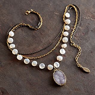 View Chalcedony and Druzy Necklace image