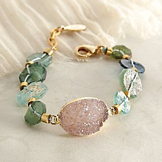 View Roman Glass and Druzy Bracelet image