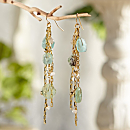 Roman Glass Cascade Earrings